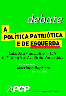 Cartaz do debate